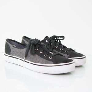 KEDS 2 Tone Wool & Canvas Lace Up Sneakers Size 8